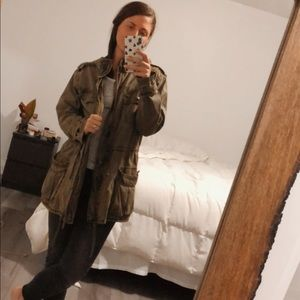 Army Green Talula Utility Jacket from Aritzia